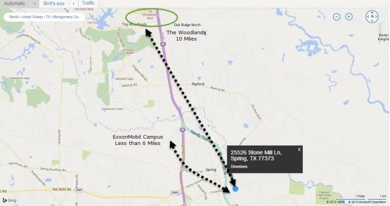 25526 Stone Mill Ln Spring Tx 77373 Map