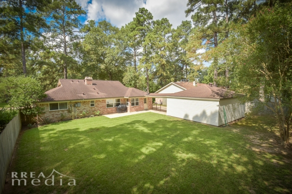 25526 Stone Mill Lane Spring TX 77373 Back of House Aerial