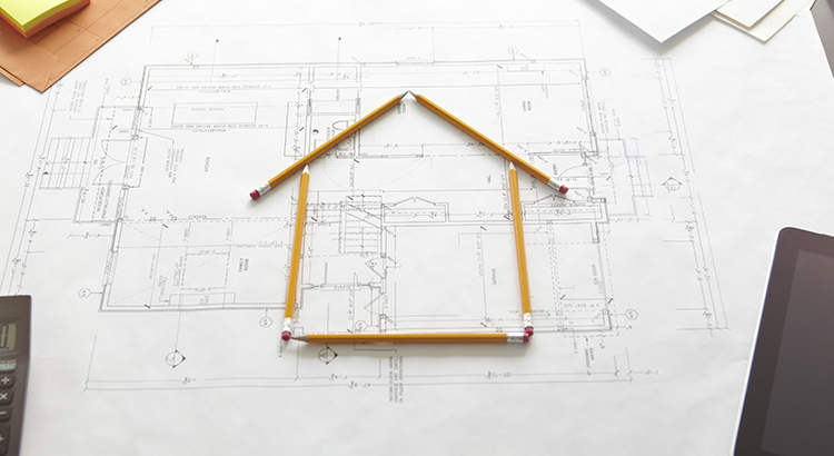A house constructed by pencils.